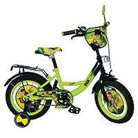 """Детский велосипед """"Ben 10"""" 14 дюймов BN 0038 Черно-зеленый"""