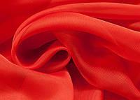 Шторный шифон Красный (вуаль)