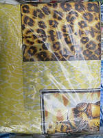 Постельное белье полуторное леопардовая абстракция