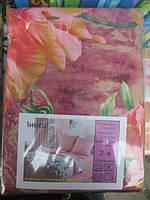 Полуторное постельное белье с цветами