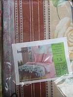 Постельное белье двуспальное с бежевыми цветами