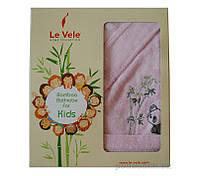 Халат детский Le Vele Bamboo Cotton Cocuk с вышивкой Панда 5-6 лет цвет - голубой (Blue)