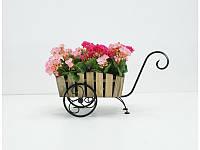Подставка для цветов Тачка Лебедь Кантри (1 кашпо в комплекте)