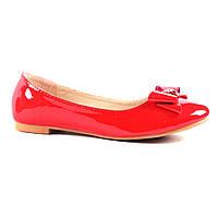 Красные лакированные балетки для женщин