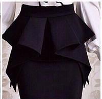 """Стильная женская юбка """"LORAN"""" цвет черный"""