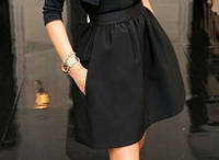 Модная женская юбка цвет черный