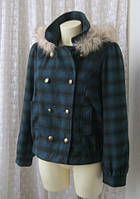 Пальто короткое демисезонное куртка капюшон бренд George р.52
