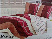 Сатиновое постельное белье семейное ELWAY Кубики