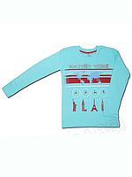 """Детская футболка (фуфайка) с длинным рукавом для мальчика """"Время"""""""