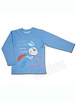 """Детская футболка (фуфайка) с длинным рукавом для мальчика """"Супер заяц"""""""