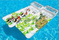 Пляжный надувной матрас с подушкой Intex 58878