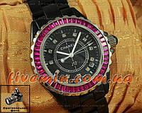 Женские наручные часы Chanel J12 Ceramic Black Pink Dimond керамика японский механизм качество