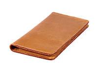 Мужской кожаный бумажник VIP (антик желтый)