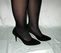 Туфли женские на шпильке из замши
