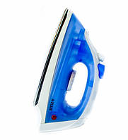 Бытовой утюг для домашней глажки а-плюс 0075, стальная подошва, нержавейка, паровой удар, пульверизатор, 220в