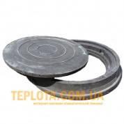 Люк полимерпесчанный 4,5 т круглый черный