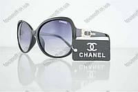 Очки женские солнцезащитные брендовые Chanel (Шанель) - Черные - 8041