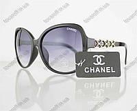 Очки женские солнцезащитные брендовые Chanel (Шанель) - Черные - 804