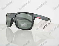 Очки мужские солнцезащитные брендовые Prada (Прада) - Черные - 5155
