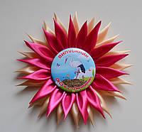 Значок Выпускник детского сада с розеткой Хризантема