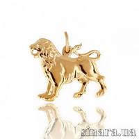 Золотая подвеска знак зодиака Лев 10786