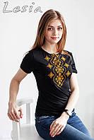 Жіноча футболка з вишивкою Хвилька оранж