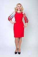 Нарядное молодежное платье яркого цвета, фото 1