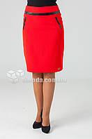 Женская стильная юбка Жасмин красного цвета