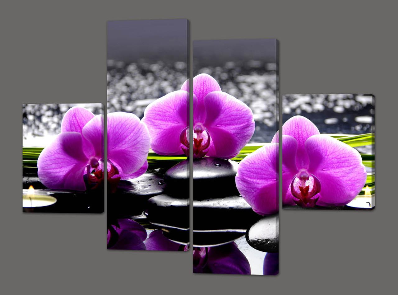 Как сделать картину с орхидеей в