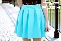 Мини юбка с прямыми складками