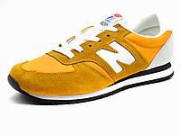 Кроссовки New Balance 420 мужские желтые/ белые/ текстиль/ замша, р. 43 45