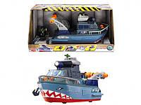 Игрушечная военная лодка Шторм с субмариной, свет и звук