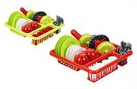 Набор игрушечный Сушка с посудой, 2 вида4 аксессуаров