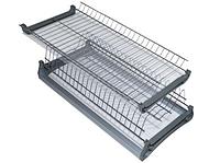 Хромированная кухонная сушка в секцию 700 мм. с алюминиевой рамкой