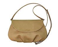 Маленькая сумка через плечо бежевая