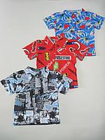 Рубашка для мальчика с коротким рукавом Размер 80 - 104 см