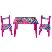 Детский столик и два стульчика Monster High Bambi M 2328