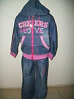 Джинсовый костюм для девочки Оленька остался р. 12(5-6 лет),14 (6-7 лет)