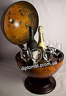 Глобус бар для напитков настольный 002R