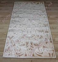 Акриловый рельефный ковер Bonita (Турция) восточный узор бежевый