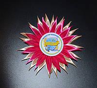 Значок Министр школы с розеткой Хризантема