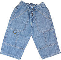 Джинсы короткие на молнии для мальчика, рост 74 см, Одягайко