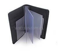 Документница для водительских прав ST, кожа, черная