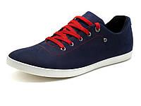 Мужские спортивные туфли GS-comfort, нубук, темно-синие/ красные, р. 40