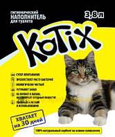 KOTIX КОТИКС - Силикогелевый наполнитель для кошачьего туалета 3,8 л
