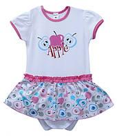 Платье с боди для девочки Apple