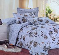 Полуторное постельное белье Langerie с коричневыми цветами