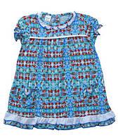 Летнее платье - халат для девочки Узор