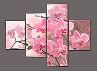 Панно (модульная) картина Орхидеи 120*96,5 см  Код: 484.4к.120