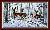 Вышивка крестом Олени в лесу Идейка D003 серия Животные